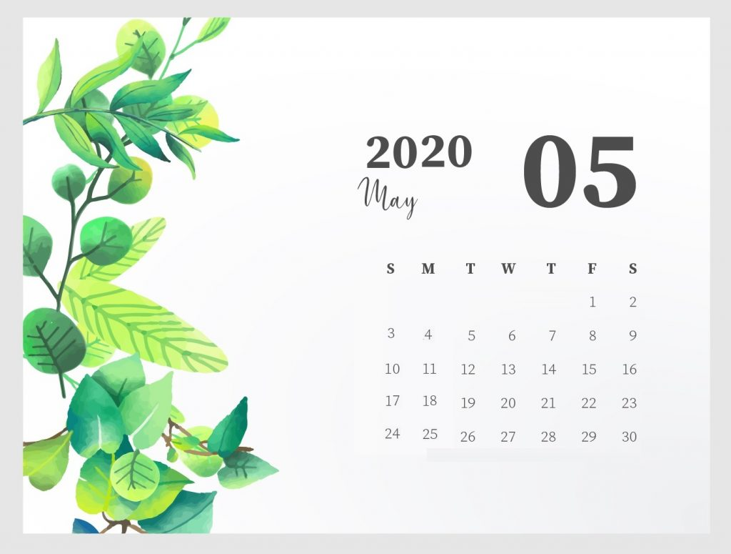 Beautiful May 2020 Calendar