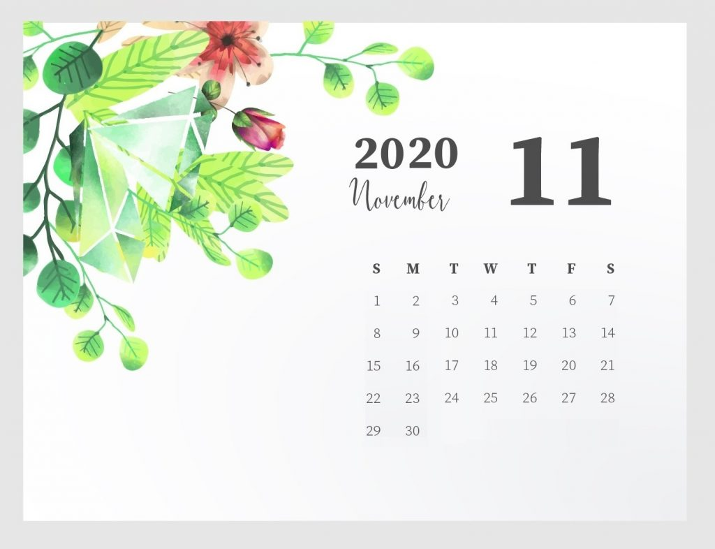 Beautiful November 2020 Calendar