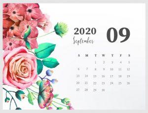 Beautiful September 2020 Calendar