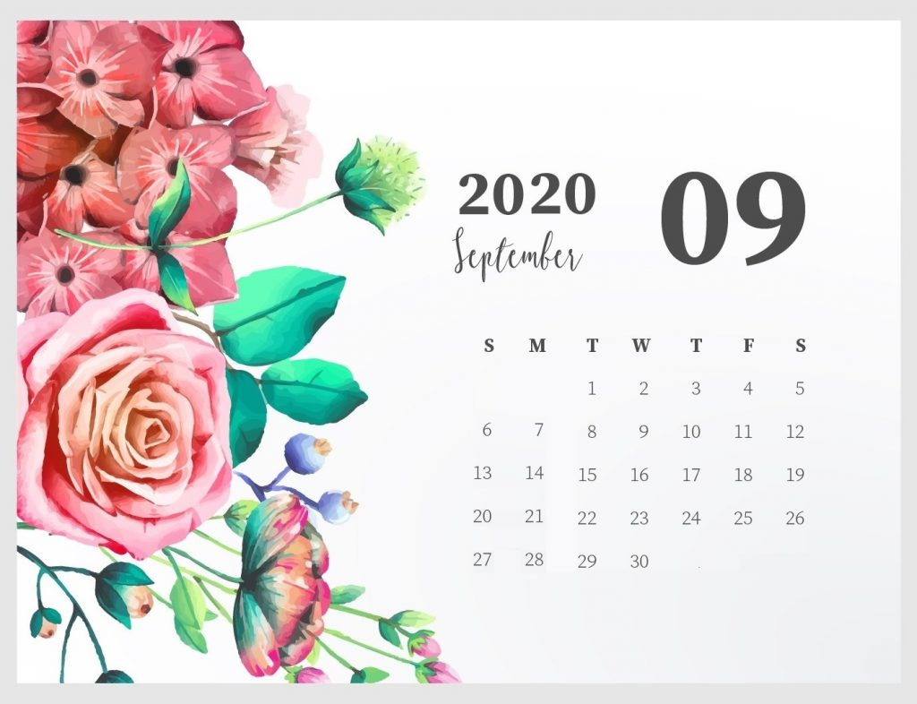 Beautiful September 2020 Calendar