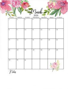 Best March 2020 Wall Calendar