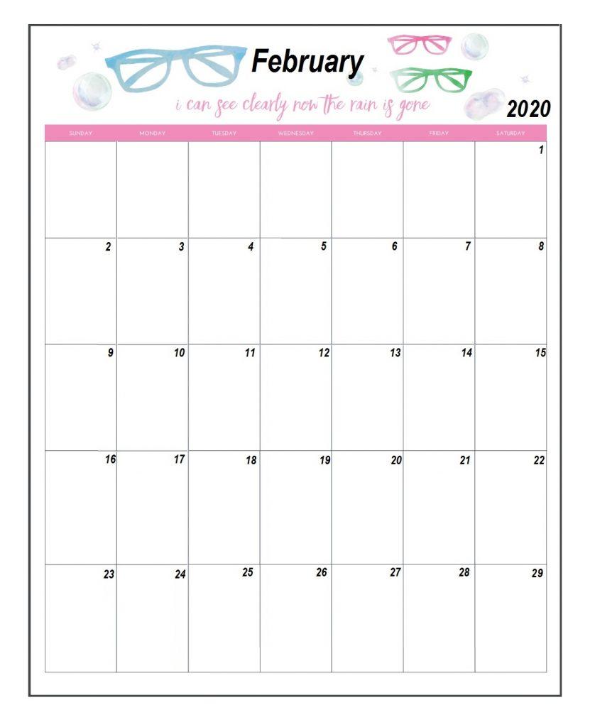 Blank February 2020 Custom Template