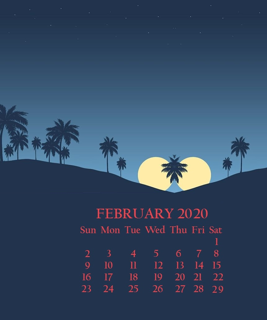 February 2020 Calendar For iPhone