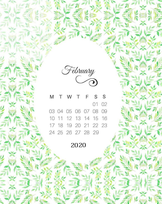 February 2020 Cute Calendar