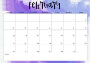 February 2020 Editable Planner Calendar