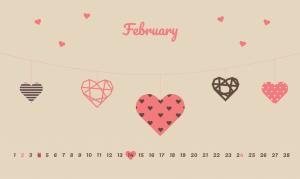 February 2020 Love Wallpaper