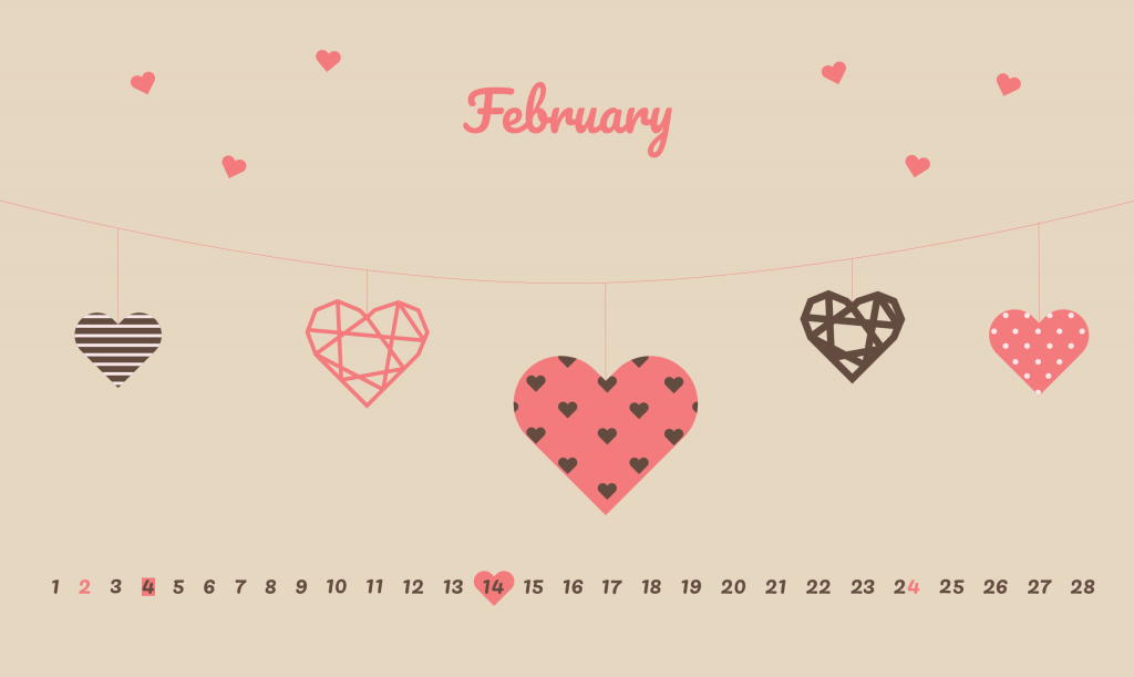 February 2020 Love Wallpaper