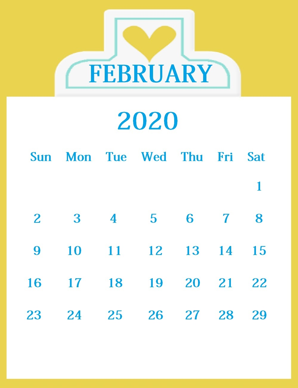 February 2020 Monthly Planner