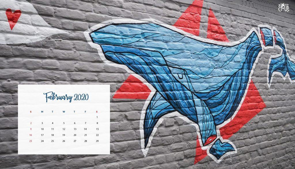 February 2020 Wallpaper Calendar