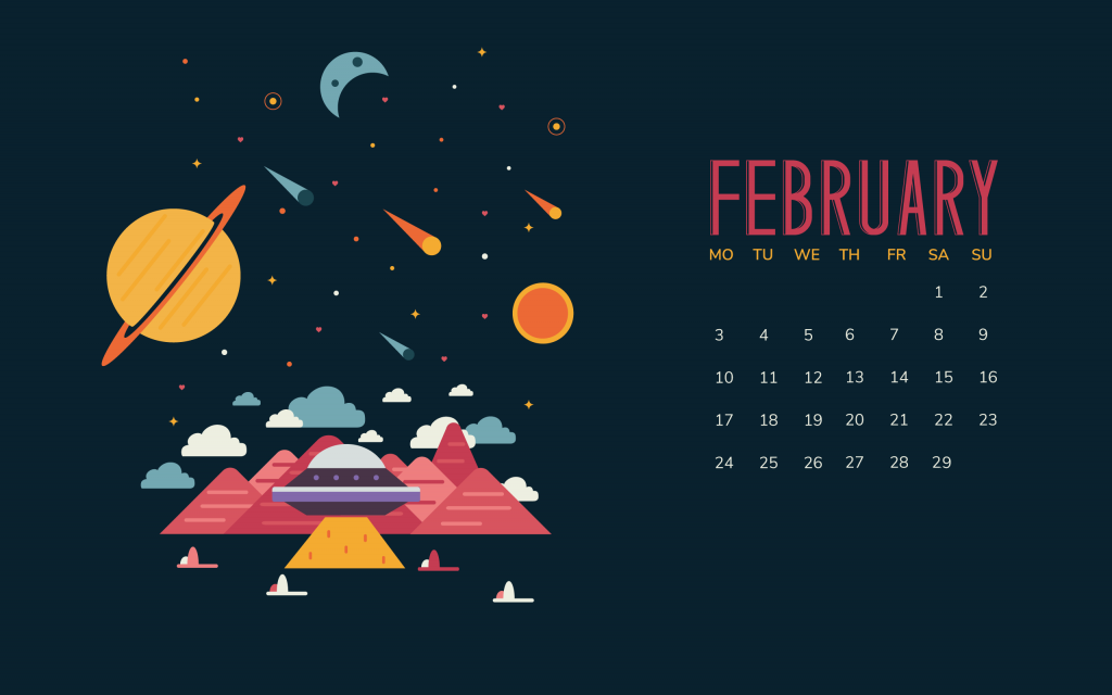 February 2020 Wallpaper With Calendar
