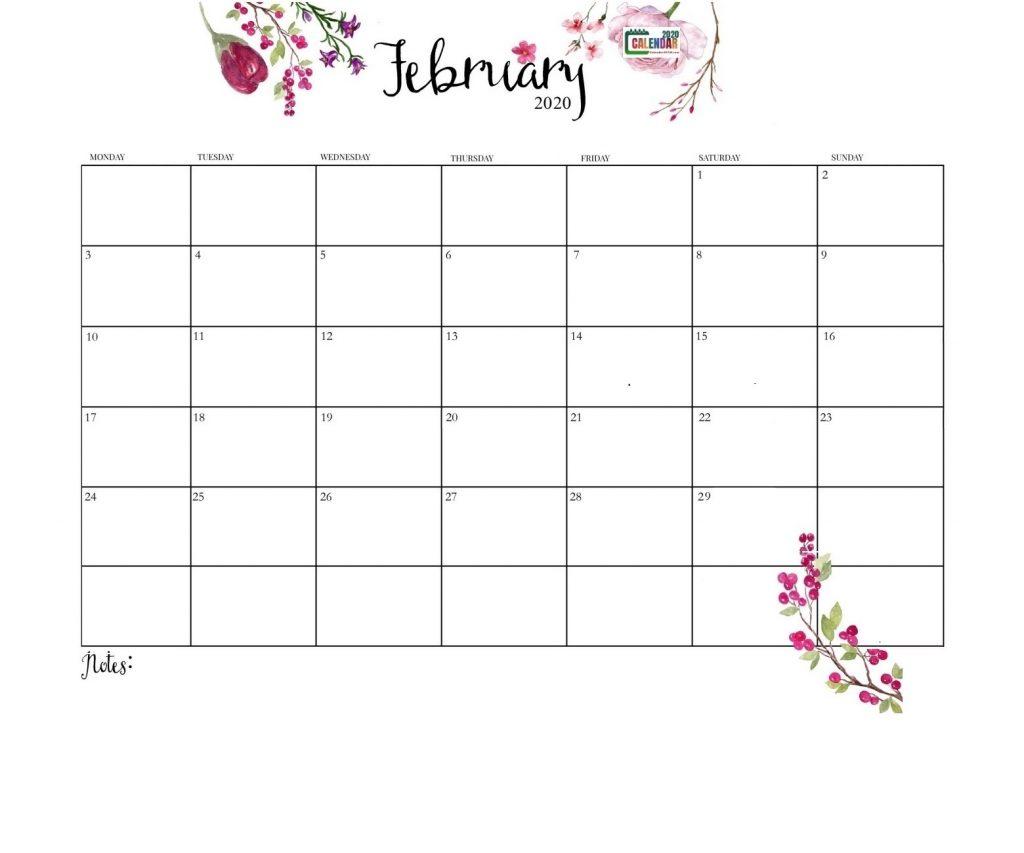 Latest February 2020 Floral Calendar