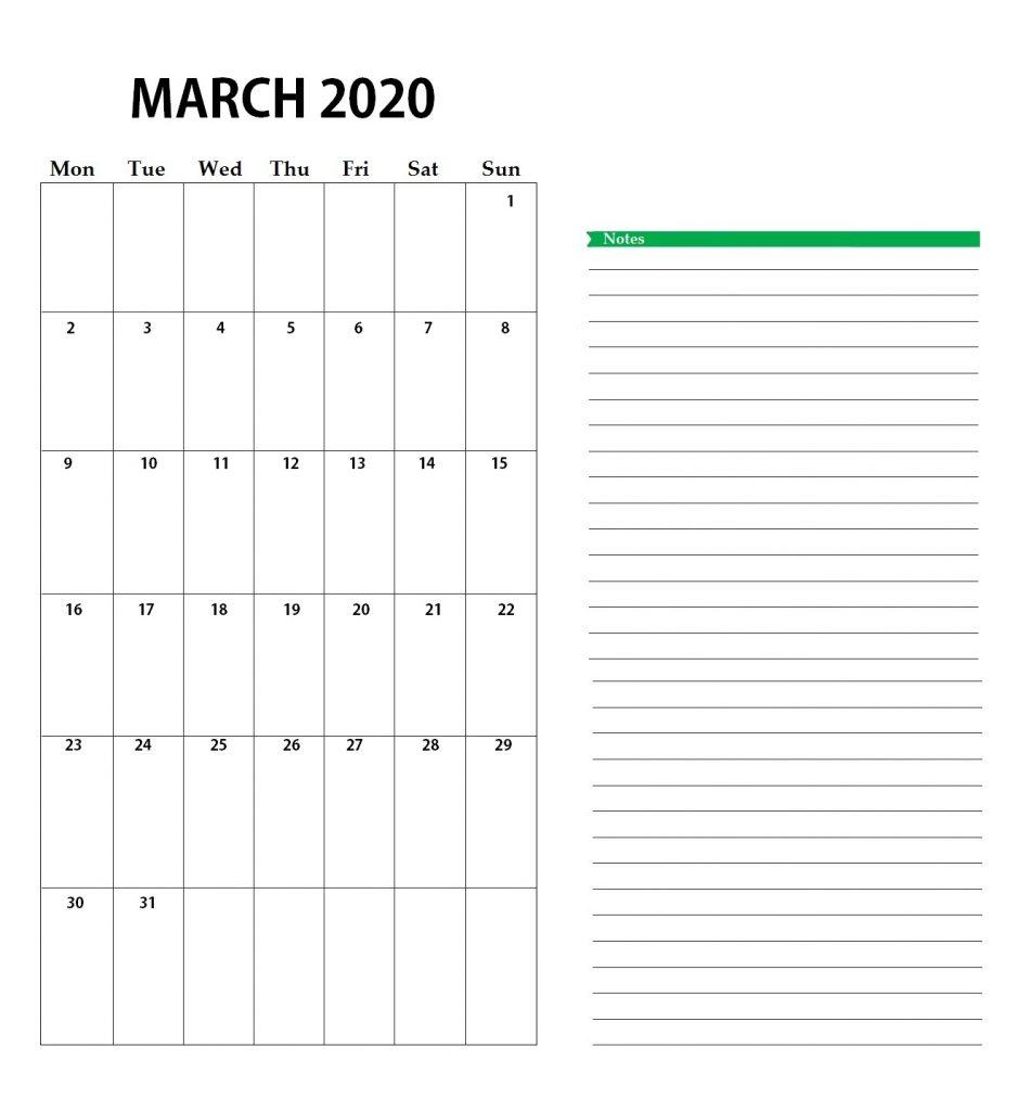 March 2020 Calendar USA