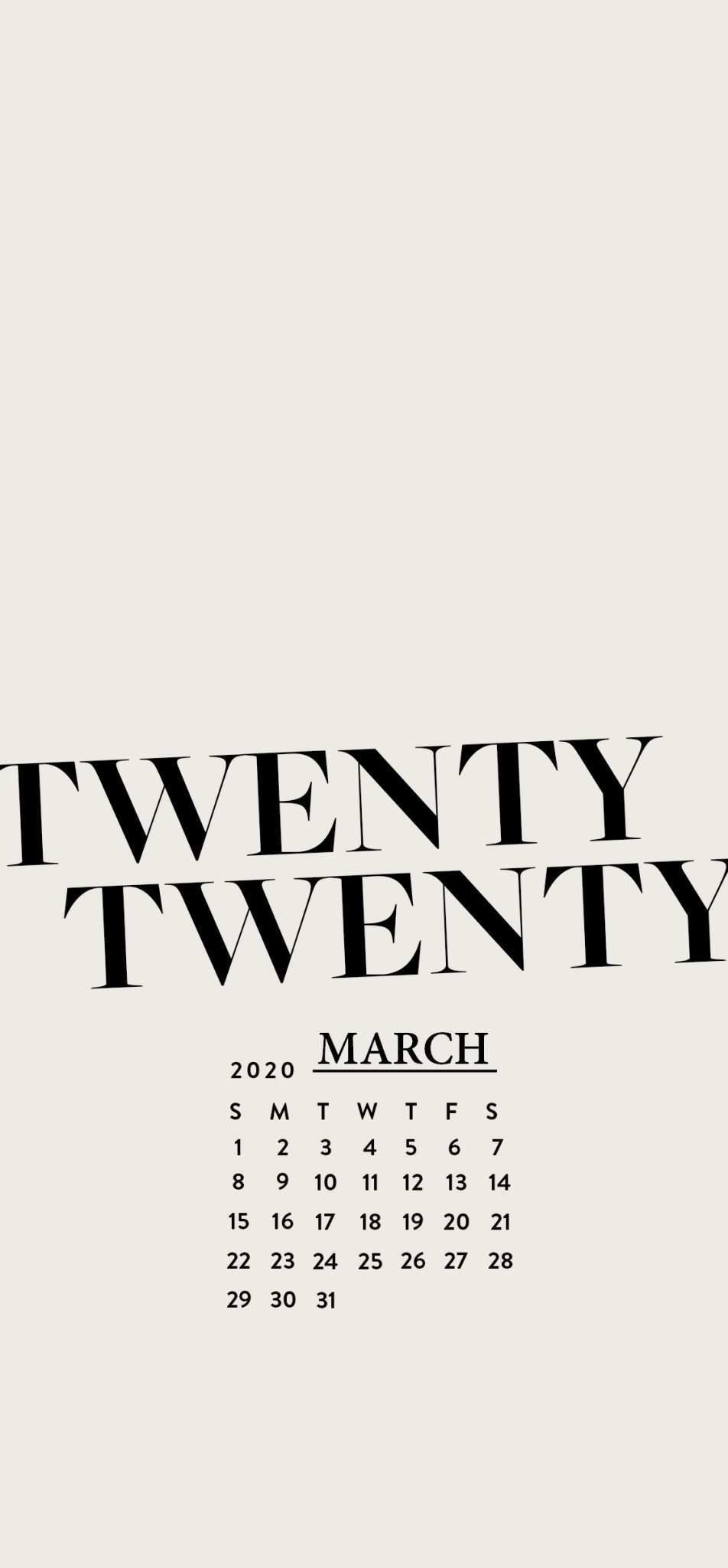 March 2020 iPhone Background