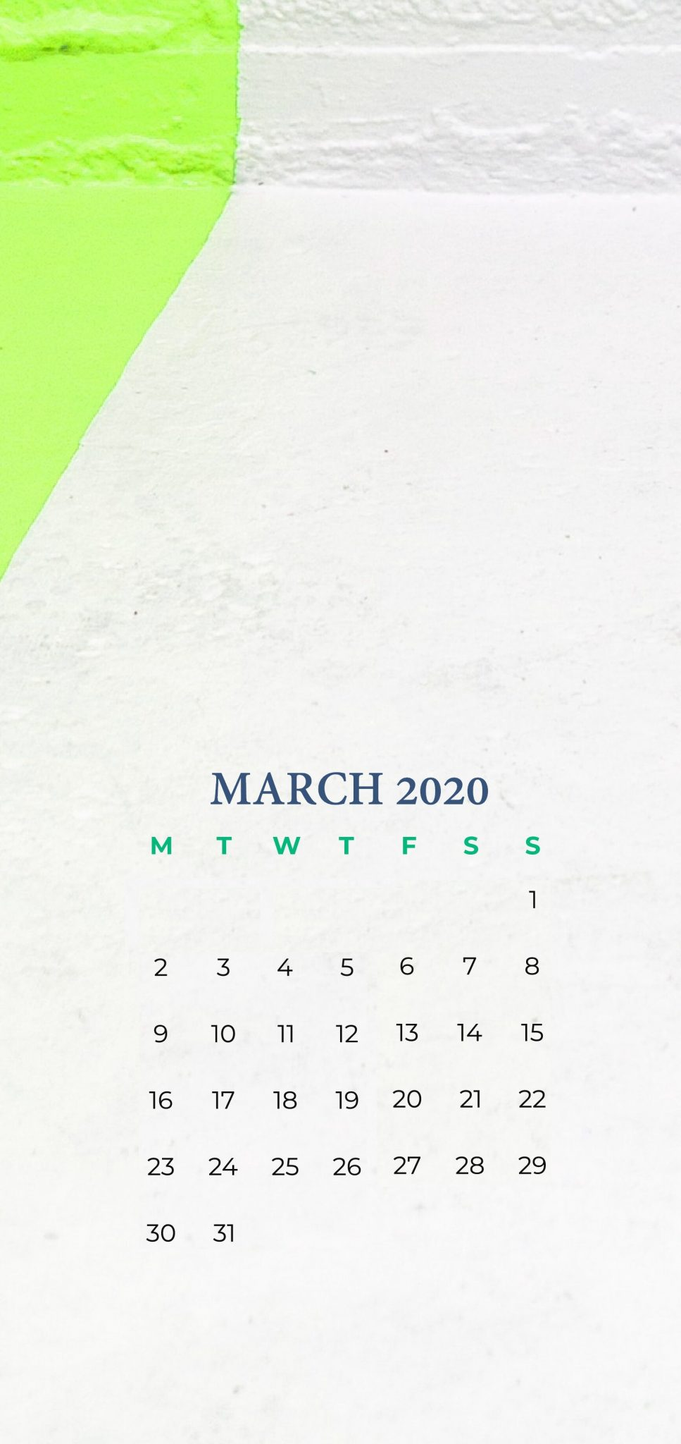 March 2020 iPhone Wallpaper