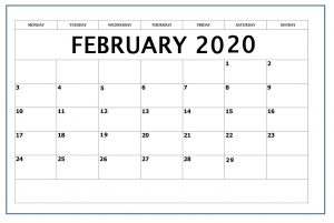 Online Edit February 2020 Template