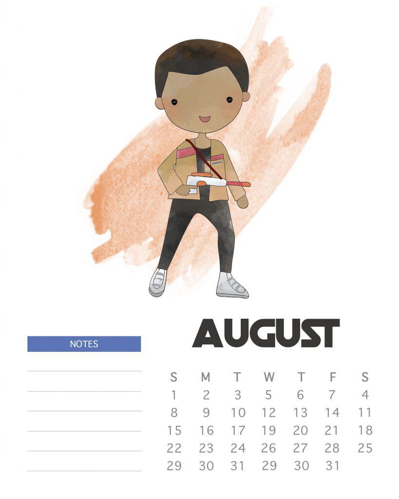 Star Wars August 2020 Calendar