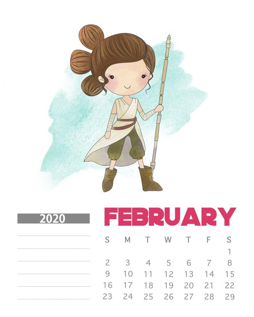 Star Wars February 2020 Calendar