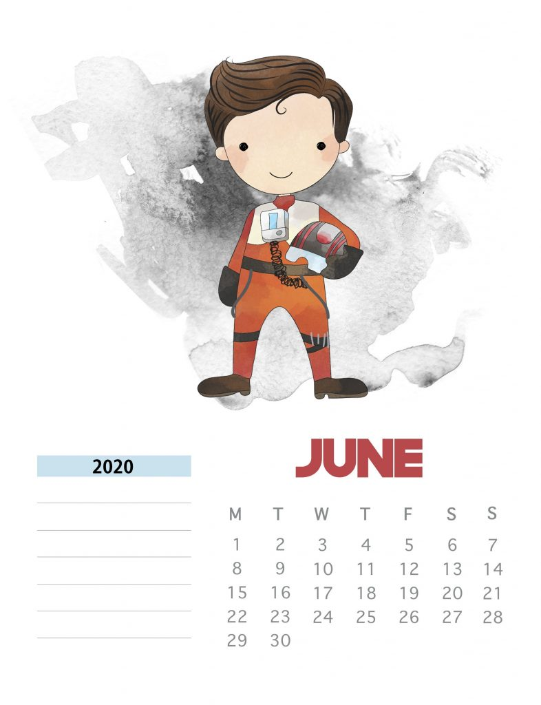 Star Wars June 2020 Calendar