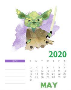 Star Wars May 2020 Calendar