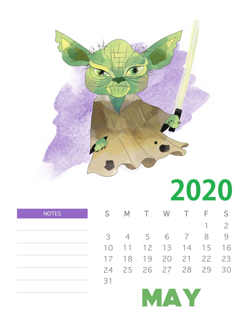 Star Wars May 2020 Calendar