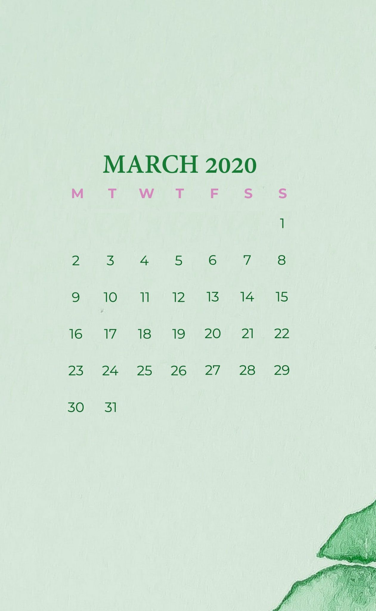 iPhone March 2020 Wallpaper