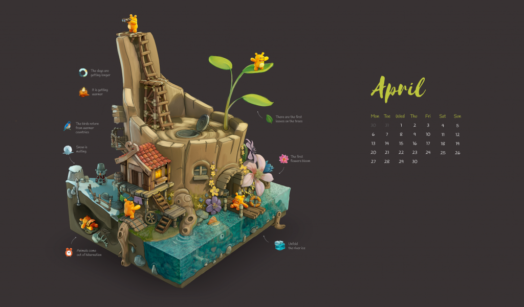 April 2020 Screensaver Wallpaper