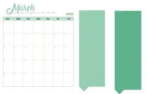 Best March 2020 Desk Calendar