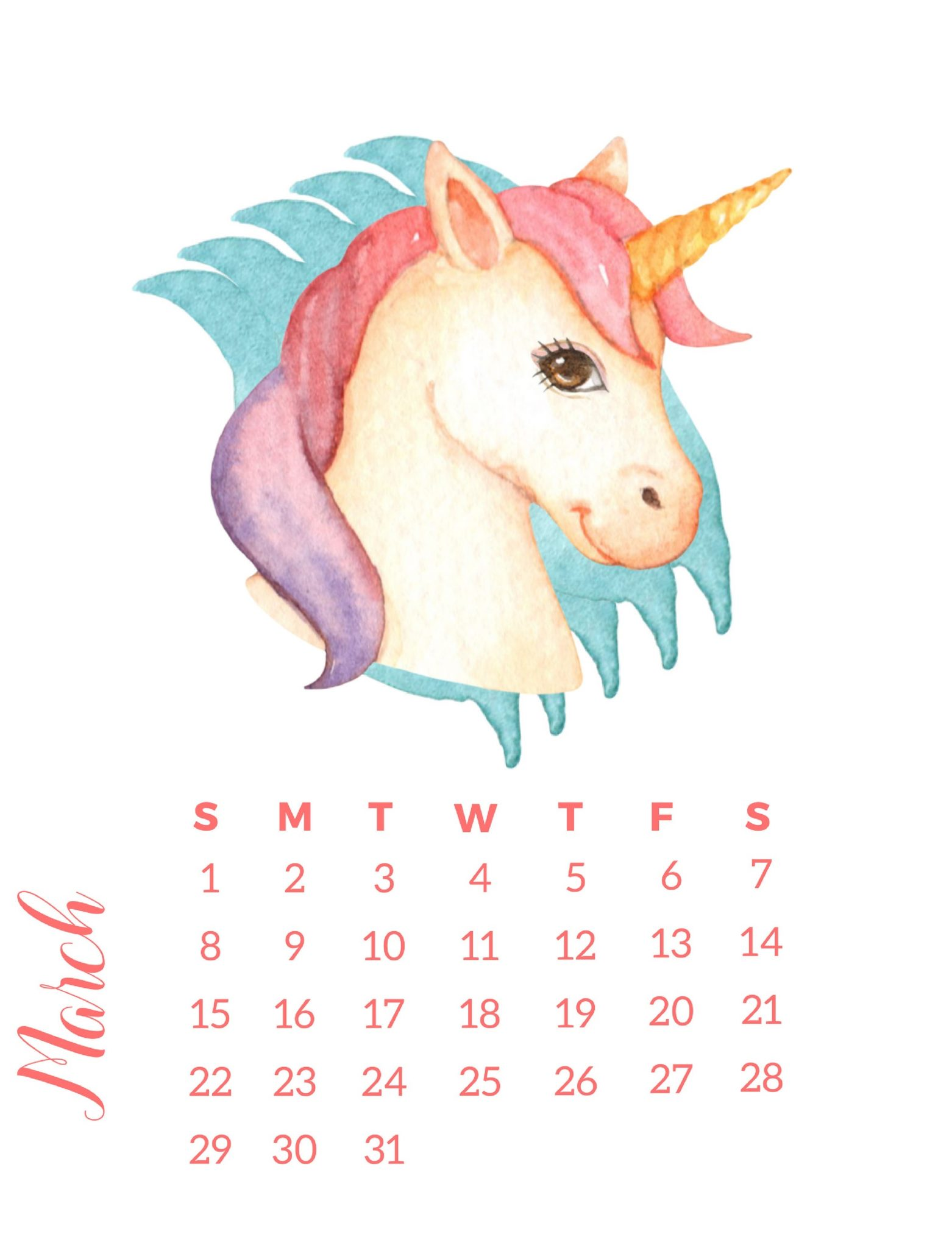 Best March 2020 Wall Calendar