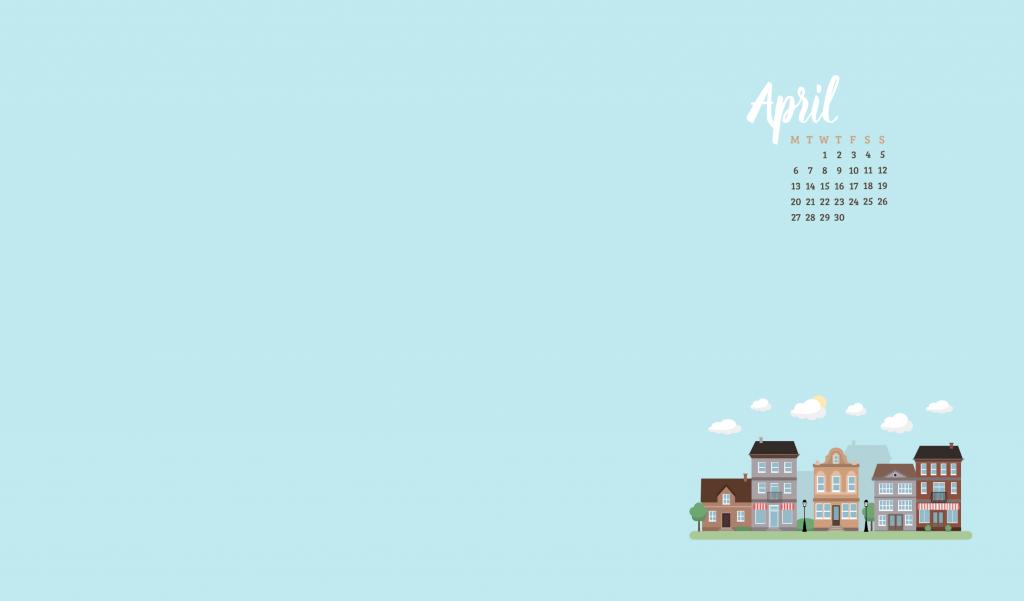 Free April 2020 Wallpaper Calendar