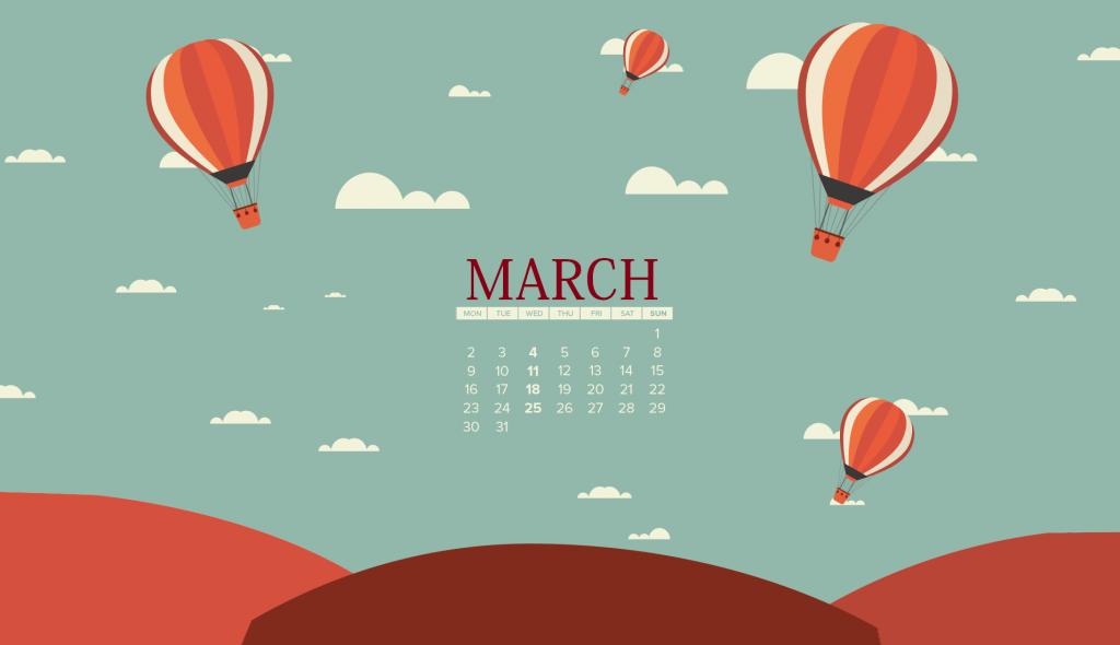 Latest March 2020 Desktop Calendar