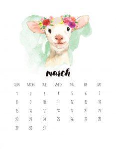 March 2020 Wall Photo Calendar