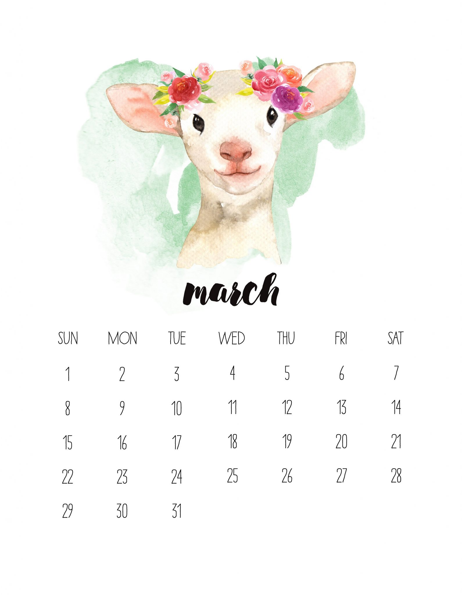 March 2020 Wall Photo Calendar