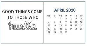 April 2020 Motivational Desk Calendar