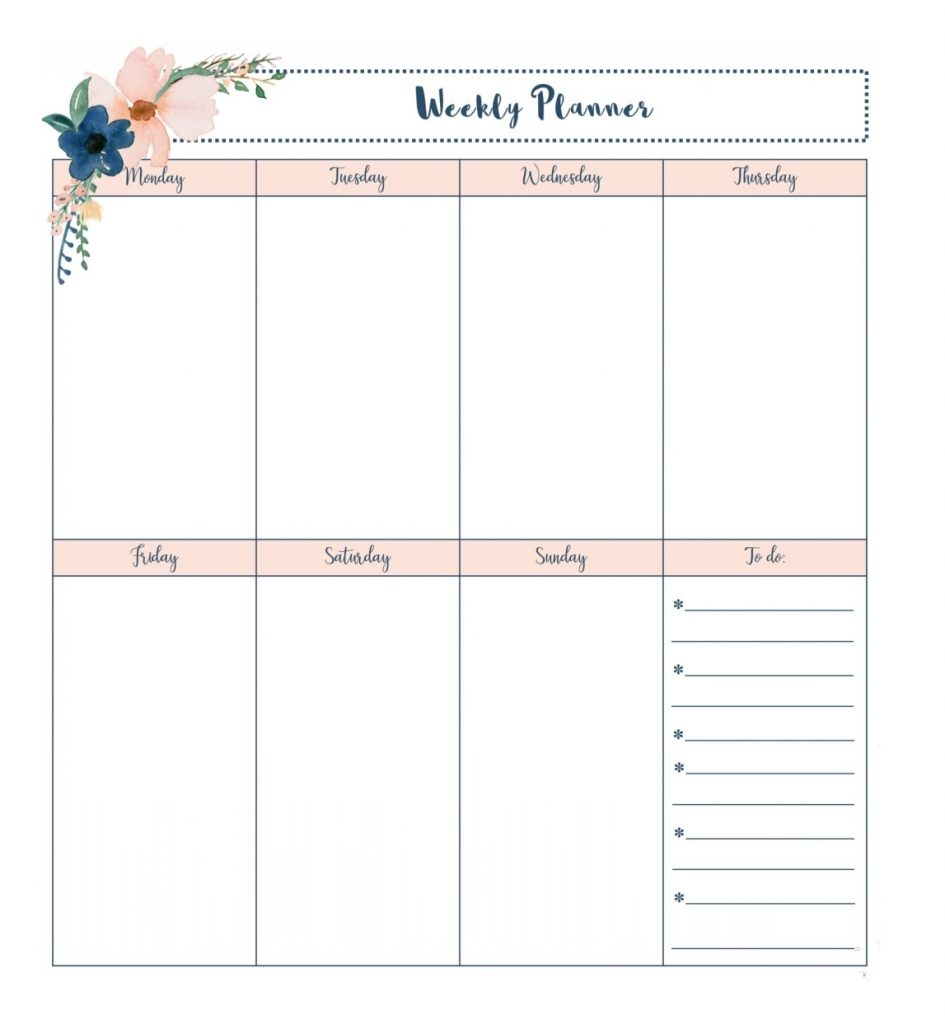 April 2020 Personal Planner