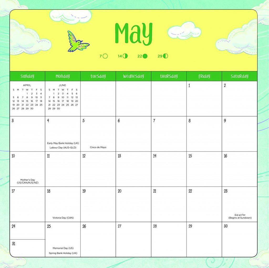 Beautiful May 2020 Calendar Cute