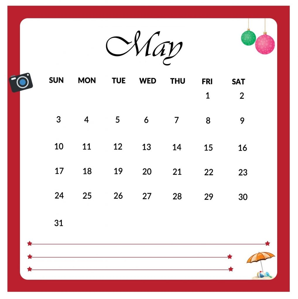Best May 2020 Desk Calendar