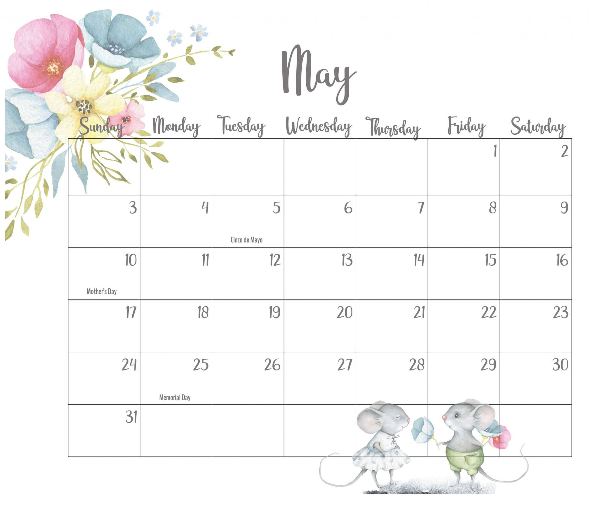Best May 2020 Floral Calendar