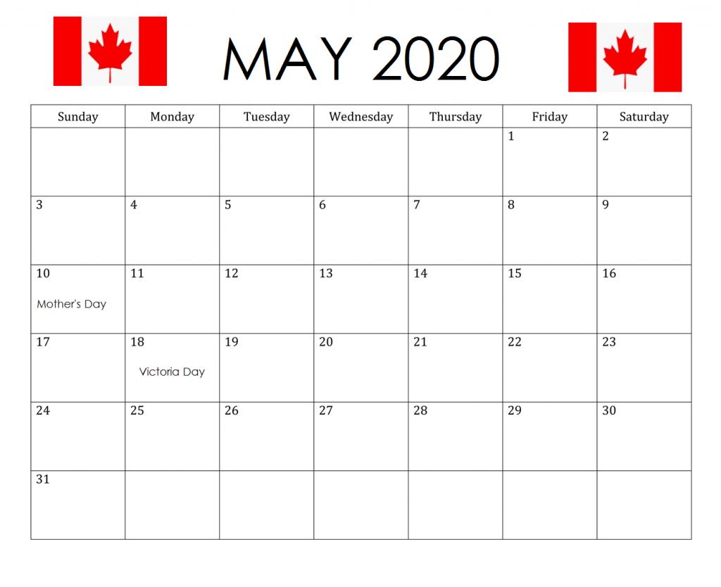 Canada May 2020 Bank Holidays