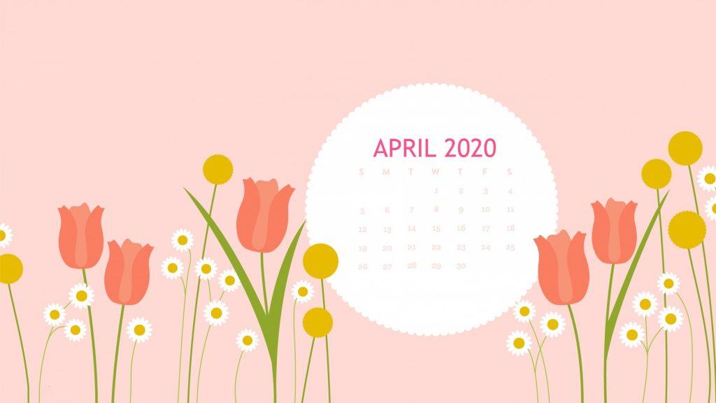 Floral April 2020 Desktop Wallpaper