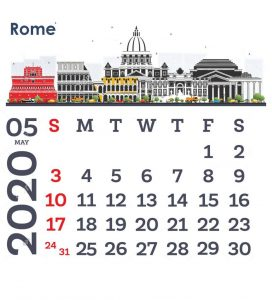 Latest May 2020 Calendar Design
