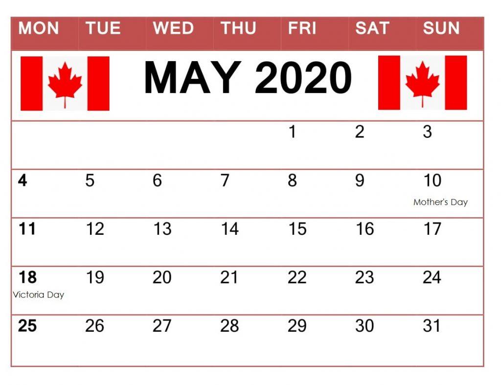 May 2020 Canada Calendar