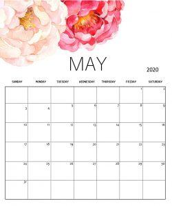 May 2020 Cute Background Calendar