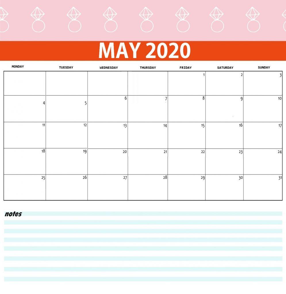 May 2020 Desk Calendar