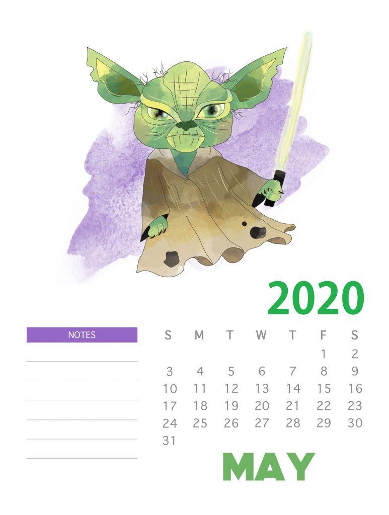 May 2020 Home Wall Calendar