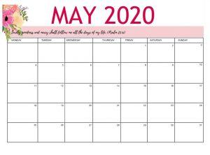 May 2020 Office Wall Calendar