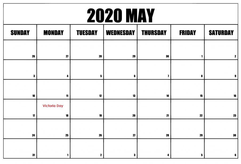 May 2020 School Holidays Calendar