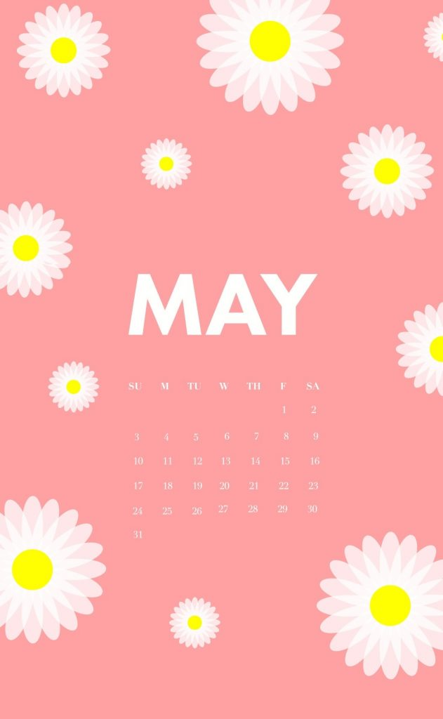 May 2020 iPhone Calendar Flowers Wallpapers