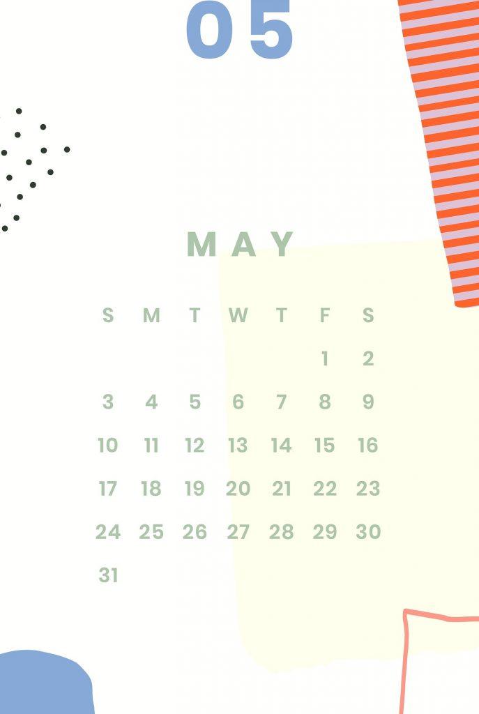 May 2020 iPhone Calendar