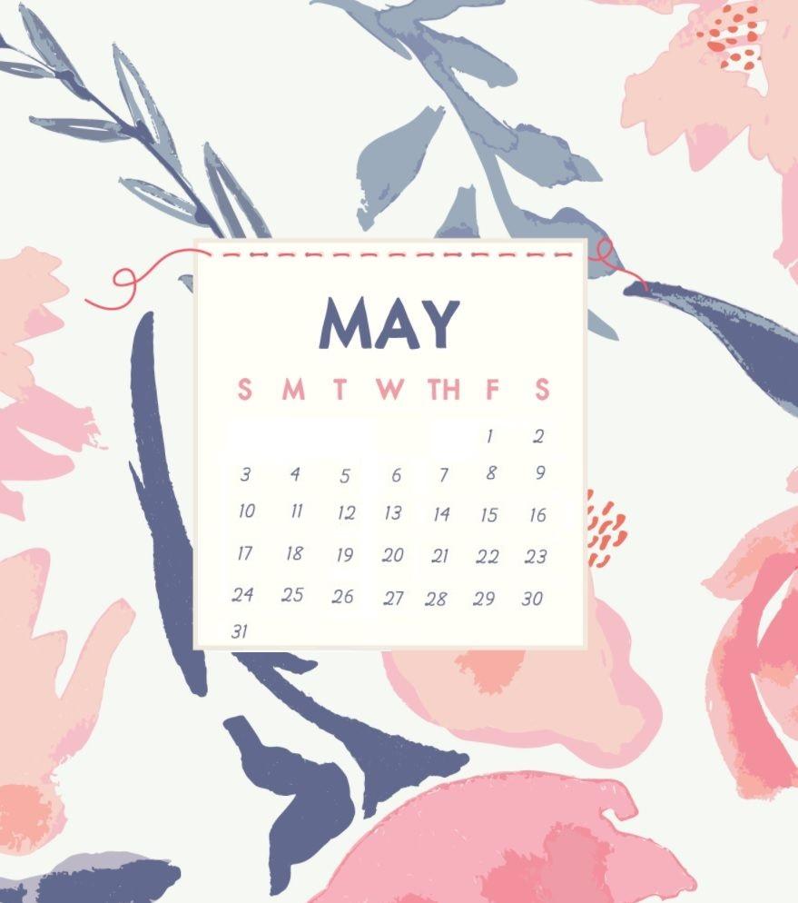 Watercolor May 2020 iPhone Wallpaper