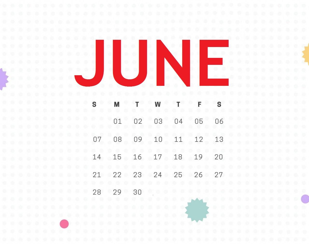 Cute June 2020 iPhone Wallpaper